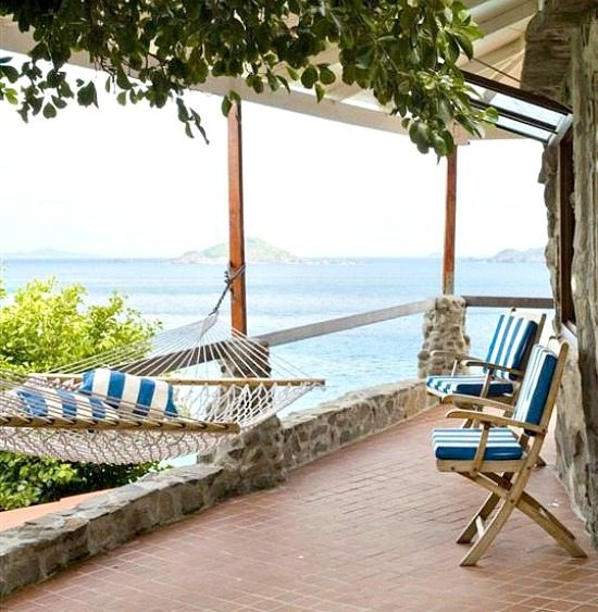 Hammock on the Porch in the Caribbean
