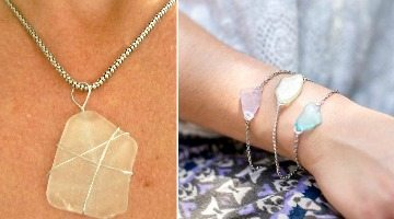 How to Make Beach Glass Bracelet and Necklace