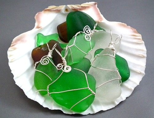 How to Make Sea Glass Jewelry with Wire Wrap