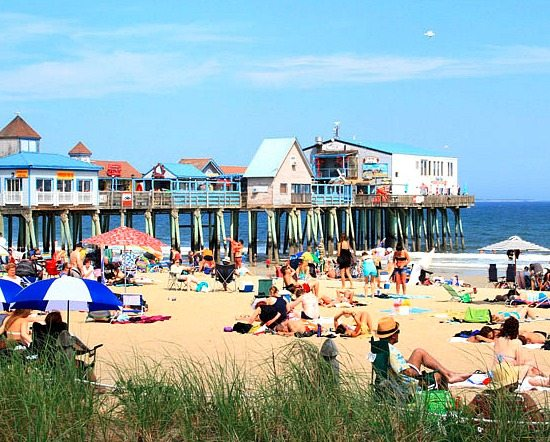 Old Orchard Beach Maine with Historic Pier
