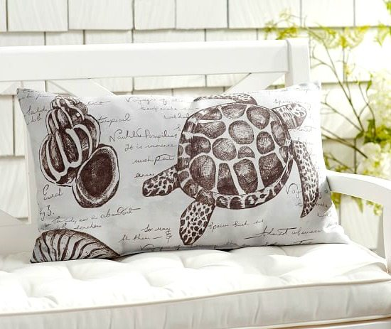 Outdoor Pillow Sea Turtle