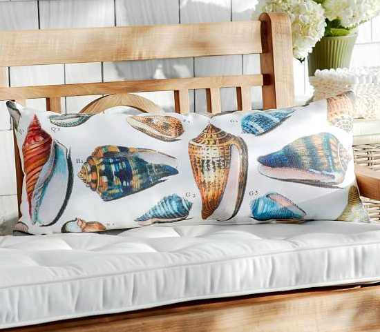 Outdoor Sea Shell Pillow