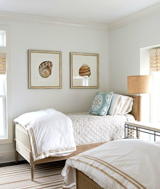 Sea Shell Prints in Bedroom
