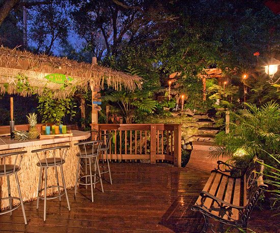 how to create a tropical tiki backyard beach bliss