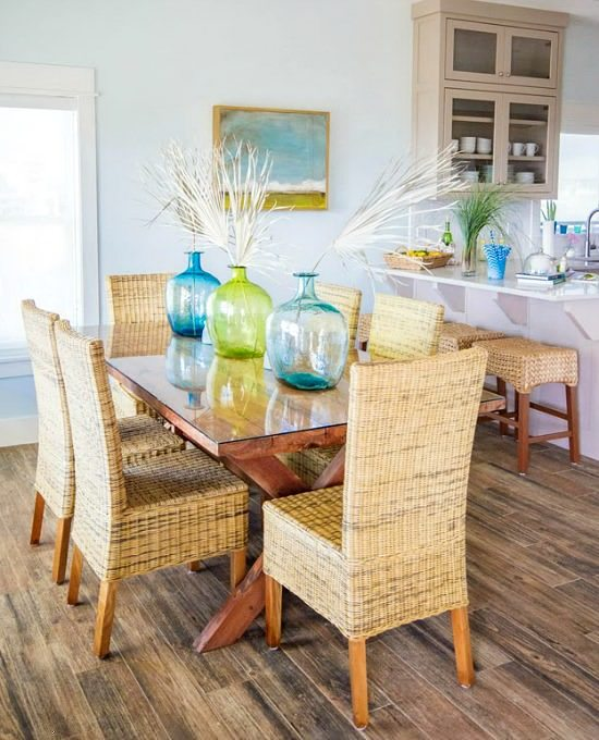 Blue Green Beach Dining Room