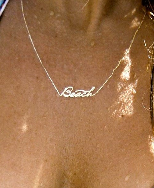Beach Necklace Tattoo by Gold Fish Kiss