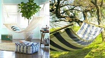 Create a Hammock Mini Escape in your Home Outdoors & Inside
