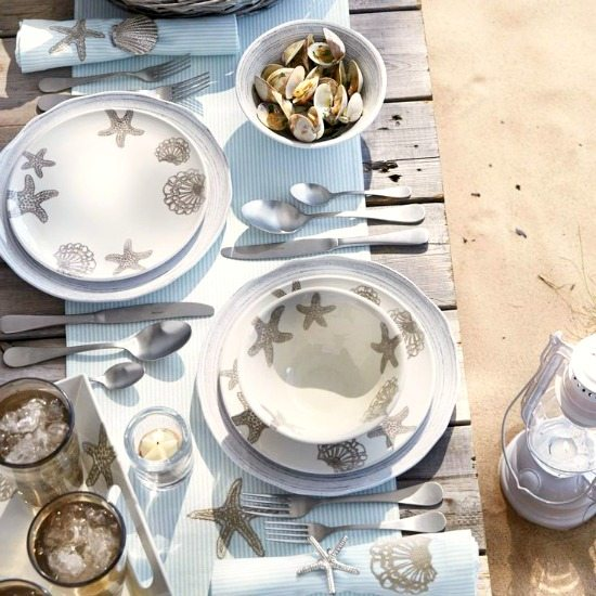 Melamine Beach Dinnerware