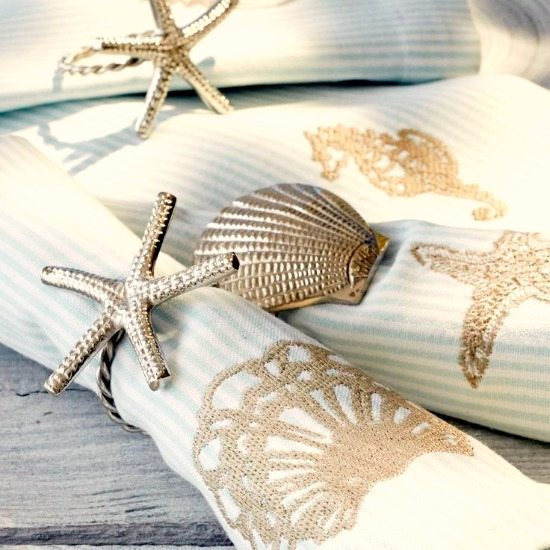 Starfish and Shell Napkin Rings