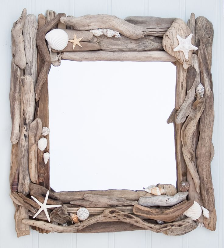 diy driftwood frames for pictures and mirrors beach