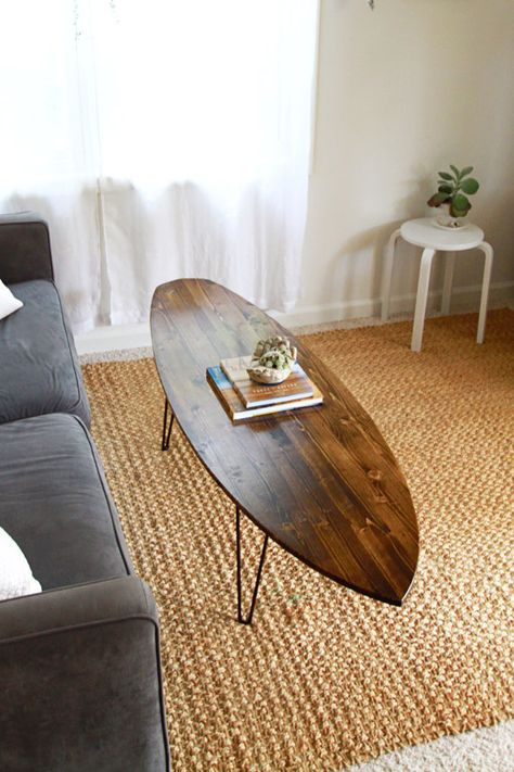 coffee table surf board