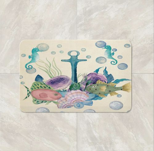 Anchor Nautical Bath Mat
