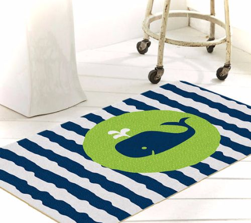 Nautical Stripe Bath Mat