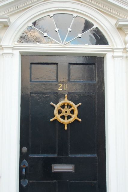front door ship wheel