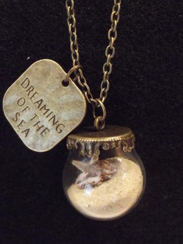 Beach Sand and Sea Shell Necklace