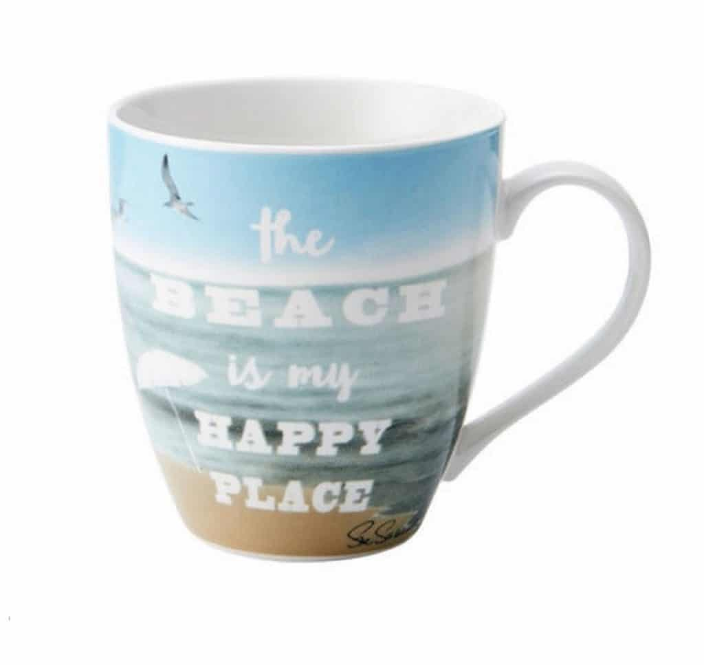 Pfaltzgraff Everyday The Beach Is My Happy Place Large Coffee Mug - 18 Ounce