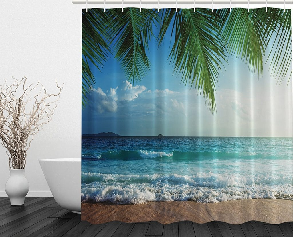 ambsonne beach shower curtain