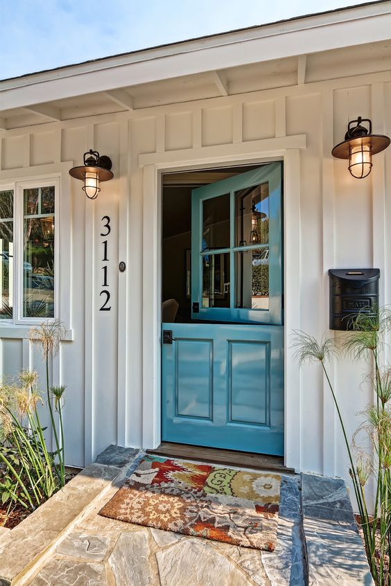 turquoise dutch door
