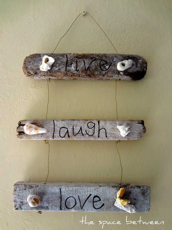 live laugh love on driftwood