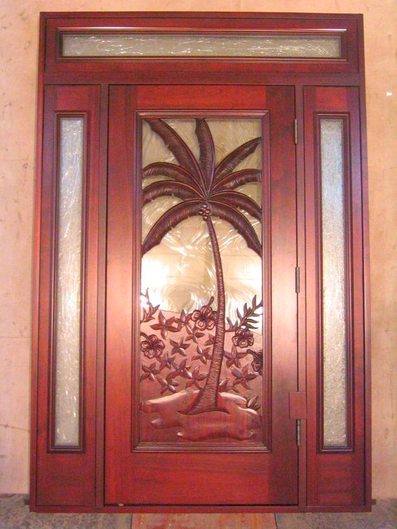 palm tree front door