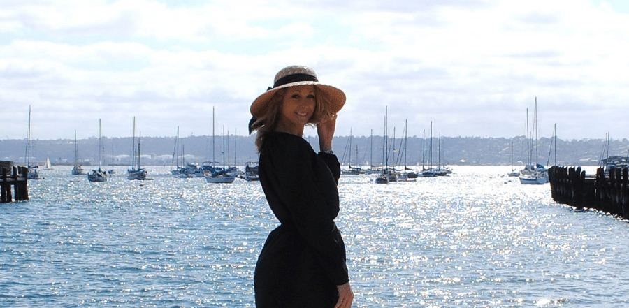 Enjoy life in the sun, on the sea front ,with a boater hat.