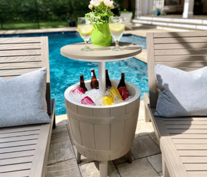 Keep your drinks cold with this drinks cooler.